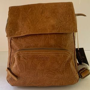 American Leather Co LIBERTY BACKPACK caffe latte